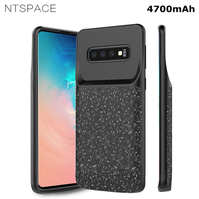 NTSPACE Power Case For Samsung Galaxy S10 S10e S10 Plus Battery Charger Case 4700mAh Extenal Power Bank Back Clip Battery Case