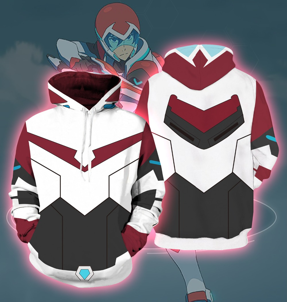 Voltron: Defender of the Universe Keith Akira Kogane cosplay Men and women Costumes 3D Printing Sweatshirts Hooded sweater
