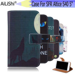 """AiLiShi для SFR Altice S40 5 """"случае эксклюзивный окрашенные телефон Altice S40 SFR кожаный чехол флип Кредитная Держатель для карт кошелек 6 цветов"""