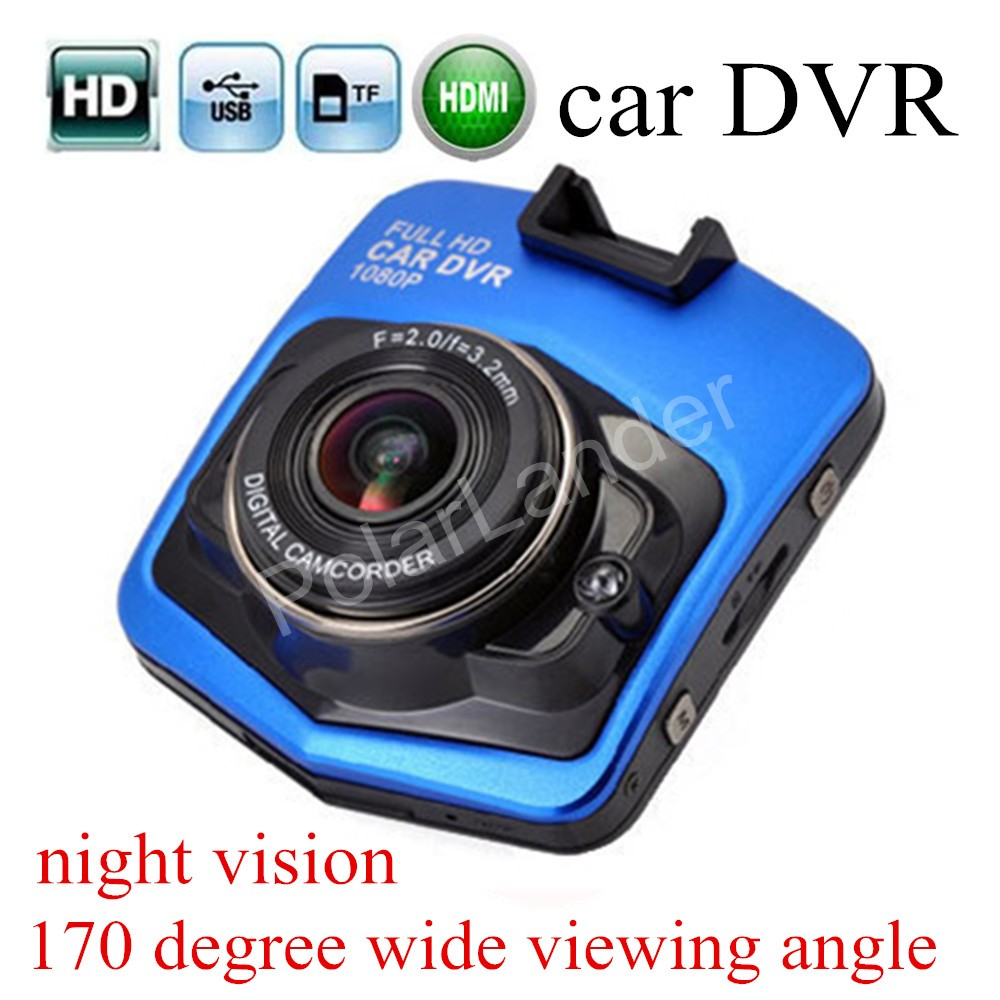 free shipping 170 degree wide viewing angle Car DVR HD Recorder GT300 Dashcam Digital Video Registrator G-Sensor Night Vision