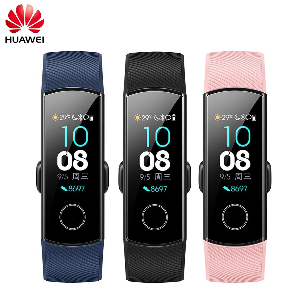 В наличии оригинальный huawei Honor Band 4 Смарт Браслет стандартная версия сердечного ритма сна оснастки мониторы 0,95 Touchpad Смарт часы
