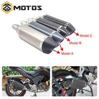 ZS заездов 51 мм Универсальный Настоящее углеродного волокна глушитель труб слипоны стрит байк мотоцикл для TMAX530 CBR600 YZF MT07 MT09