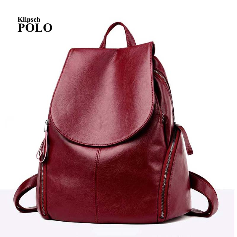 цена Multifunction Leisure Women Backpack Leather Backpacks Female School Shoulder Bags for Teenage Girls Travel Back Pack