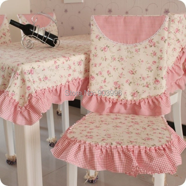 Free shipping NN#56 Thicker version pastoral cotton cloth Chair cushion + chair covers-not contain table cloth