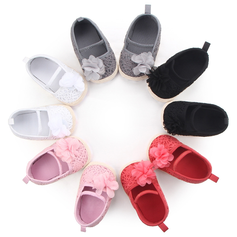 Baby Shoes Flower First-Walker Autumn Fashion New The And Spring Soft Elastic-Band Burlap