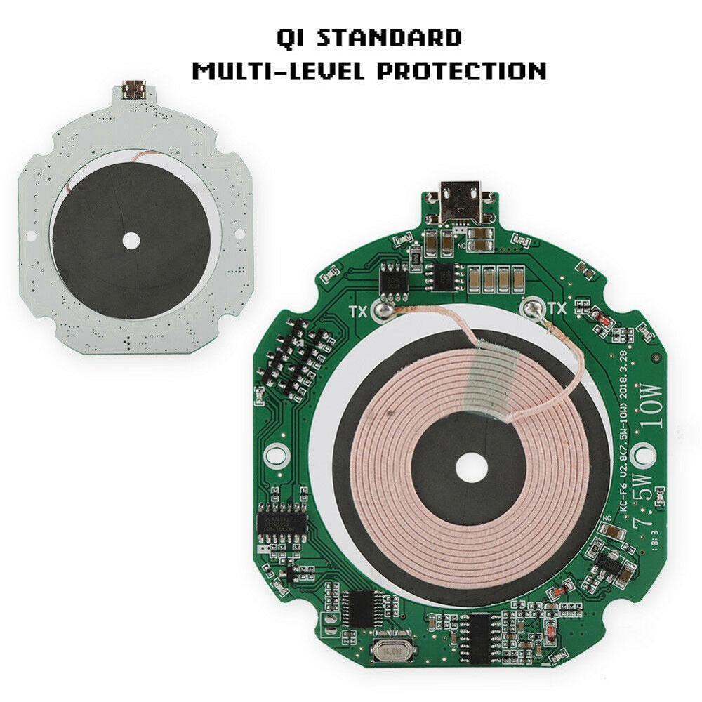 גבוהה באיכות סטנדרטי 10W Qi מהיר מטען אלחוטי מודול משדר PCBA המעגלים + סליל DIY טעינה