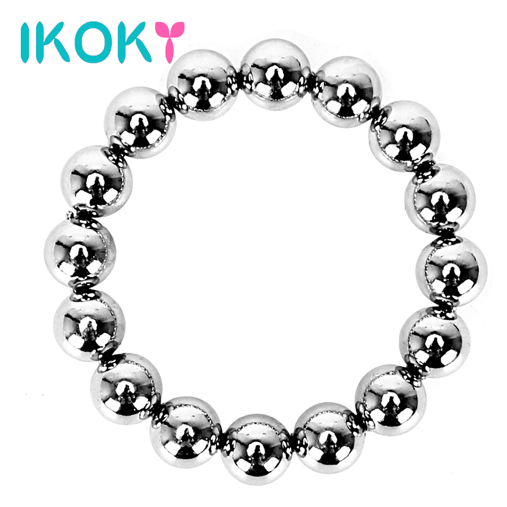 Buy IKOKY Penis Ring Metal Cock Ring Sex Toys Men Delay Ejaculation Adult Production  Cockrings Silver Stainless Steel