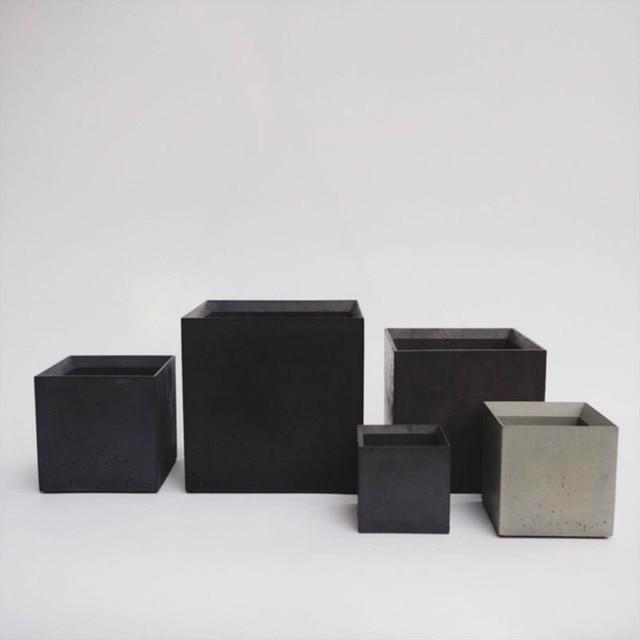 silicone mold geometric flower pots moulds concrete molds for garden ornaments  balcony flower pot holder molds