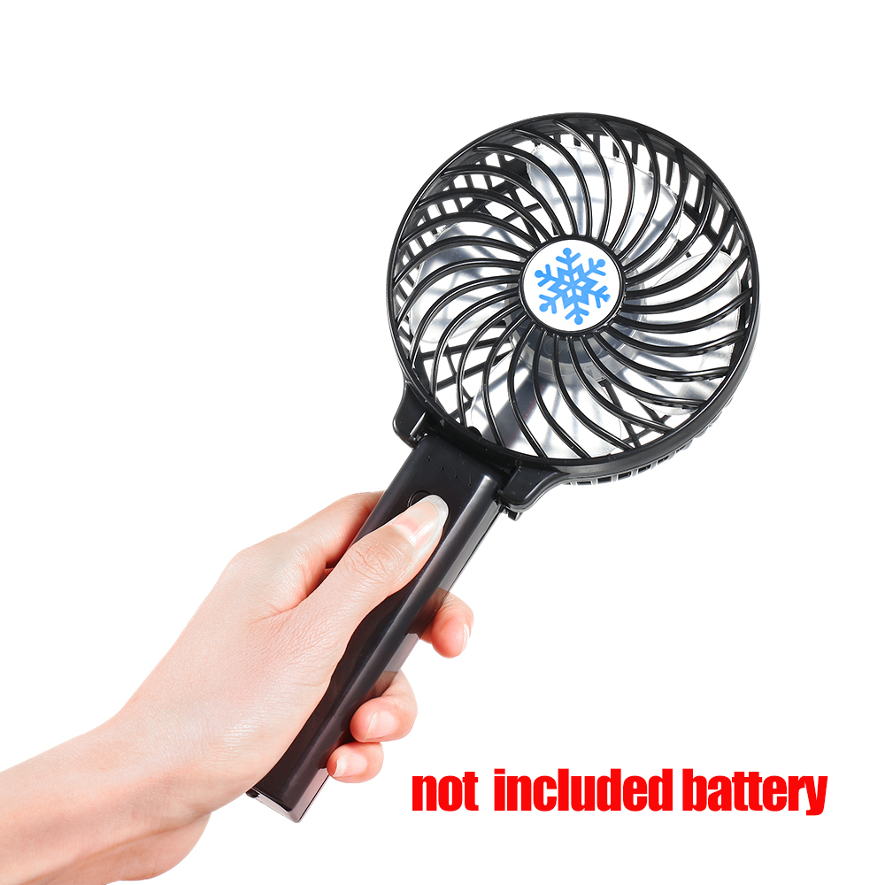 Portable Mini USB Fan  Ventilation Foldable Air Conditioning Fans Hand Held Cooling Fan Rechargeable Fan Not Include Battery