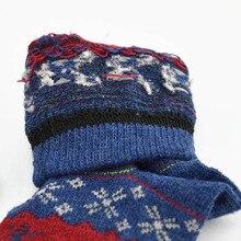 Christmas Deer Socks Women Mens Cartoon Design Casual Knit Wool Socks Winter Warm Shorts Funny Ankle Socks Meias Calcetines