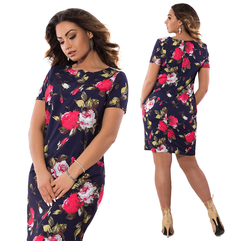 HTB1jROMXgvGK1JjSspiq6A96FXaf 2019 Autumn Plus Size Dress Europe Female Fashion Printing Large Sizes Pencil Midi Dress Women's Big Size Clothing 6XL Vestidos