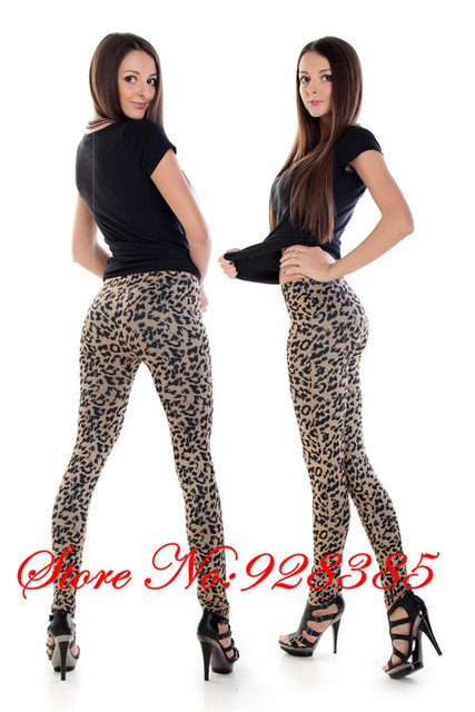 2013 New arrival Sexy Leopard Leggings Seamless Stylish Jeggings Elastic Fashion Free shipping #C9112
