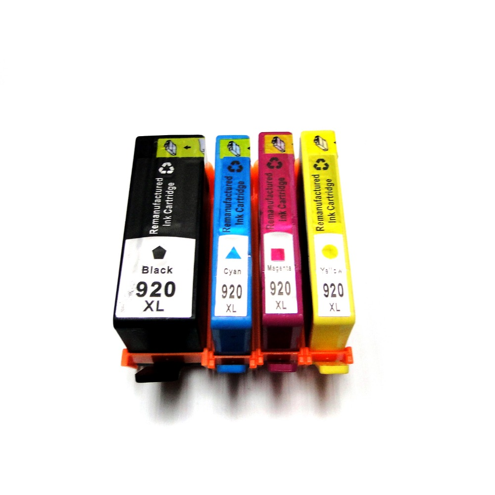 YOTAT 1SET For HP920 920xl Remanufactued ink cartridge with chip for HP Officejet 6000 printer(CB051A) 6500 All-in-one(CB815A) compatible for hp920xl for hp 920xl for hp920 920 xl ink cartridge for hp officejet 6000 6500 6500a 7000 7500a e709 e710 printer