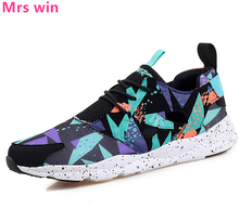 Breathable Women Running Shoes Mesh Sneakers Anti-skid Lightweight Jogging Lace-Up Outdoor Camouflage Sport Walking Shoes