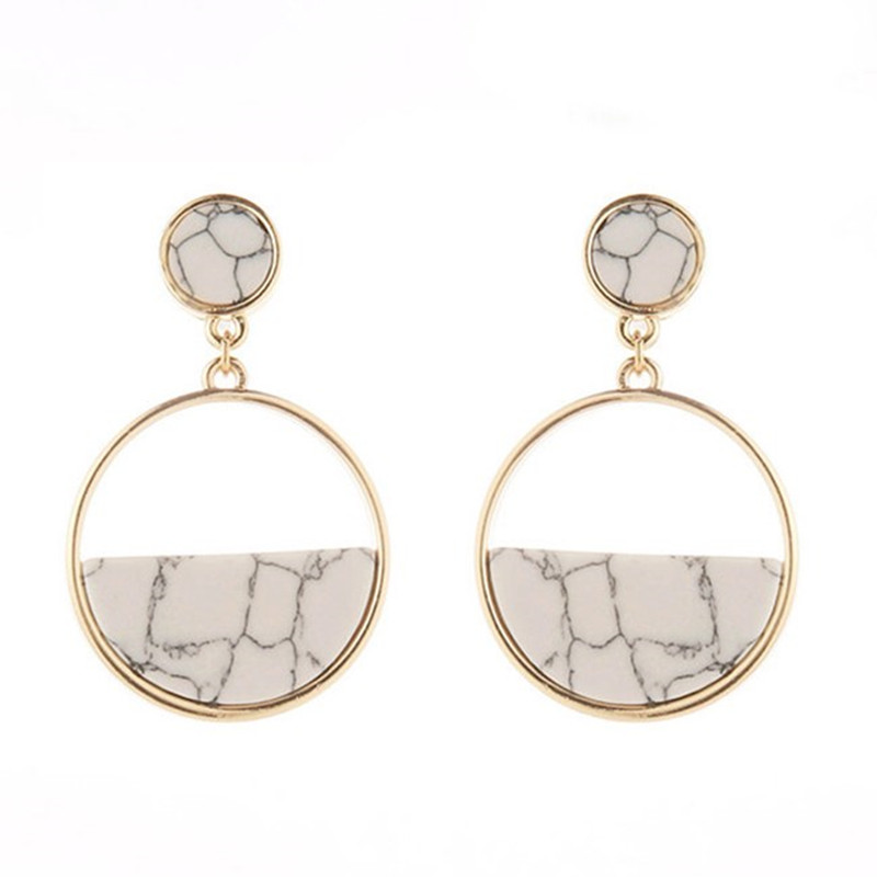 Classic minimalist geometric circular fashion Long earrings Women jewelry earring