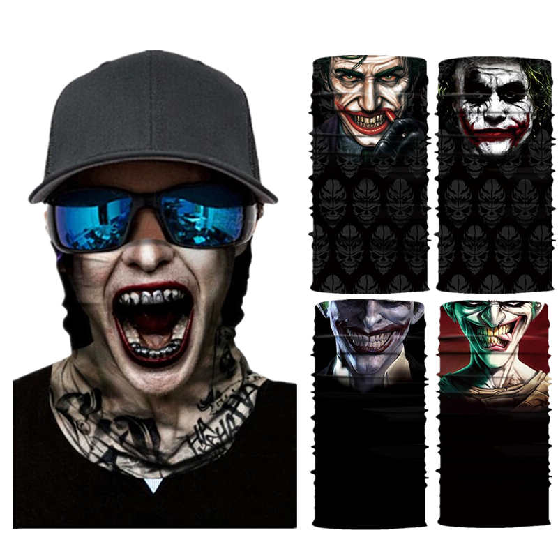 The Joker Motorcycle Cycling Neck Scarf Half Face Masks Bandana Headband Cosplay Balaclava