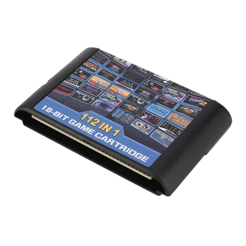 112 in 1 No Repeat 16 bit MD Game Card for Sega Genesis Console for Kids Children Gifts Game Players Classical Game Cartridge