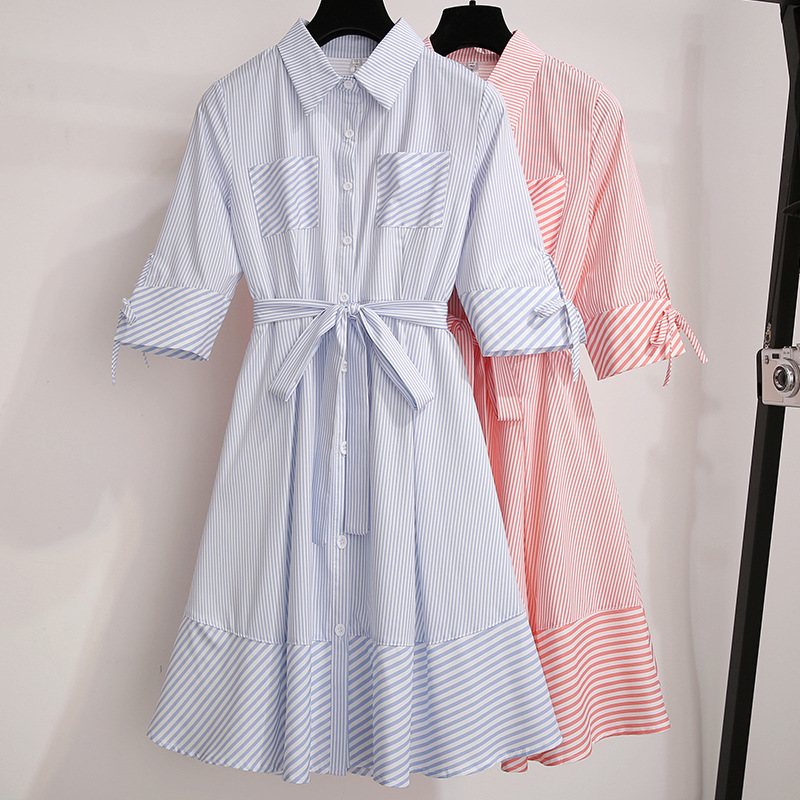 2019 populaire femmes nouveau victorien Vintage robe mode décontracté français Niche robe douce Patchwork rayé robe Vestidos CK405
