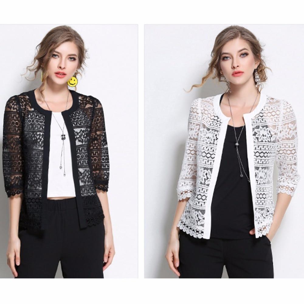 2017 Plus Size Wome Clothing 5XL 4XL XXXL Ladies White Lace Blouse ...