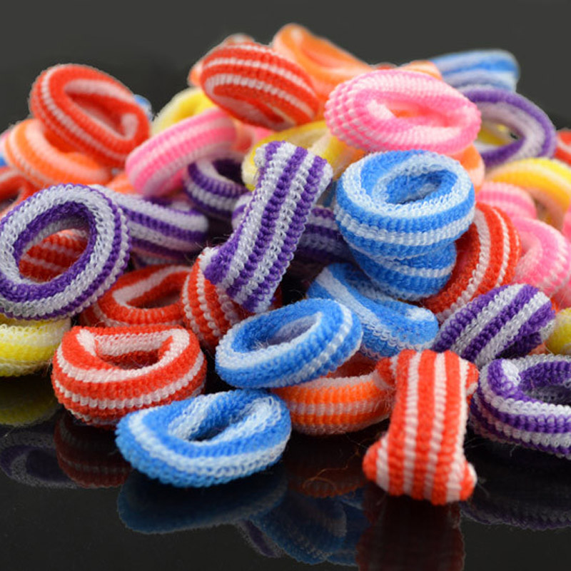 Lot 100pcs Newly Style Good Elastic Children Hair Band Kids Dress Scrunchy Colorful Random Baby Hair Accessories 10 pcs lot 7 newly foe colorful elastic headband for infant toddlers hair band baby children fashion hair accessories