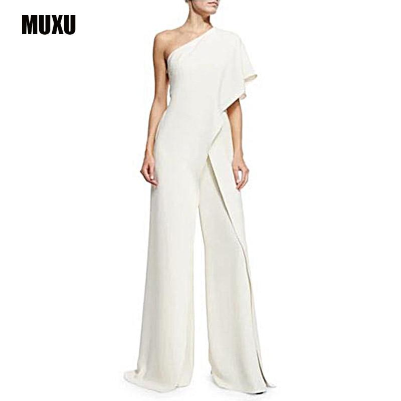 MUXU body feminino romper sexy body suit combinaison femme romper women white jumpsuit womens rompers elegant jumpsuit plus size