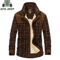 2015 New Winter Men S Slim Fit Warm Dress Shirts Cotton Plus Size Thicken Fleece Shirt