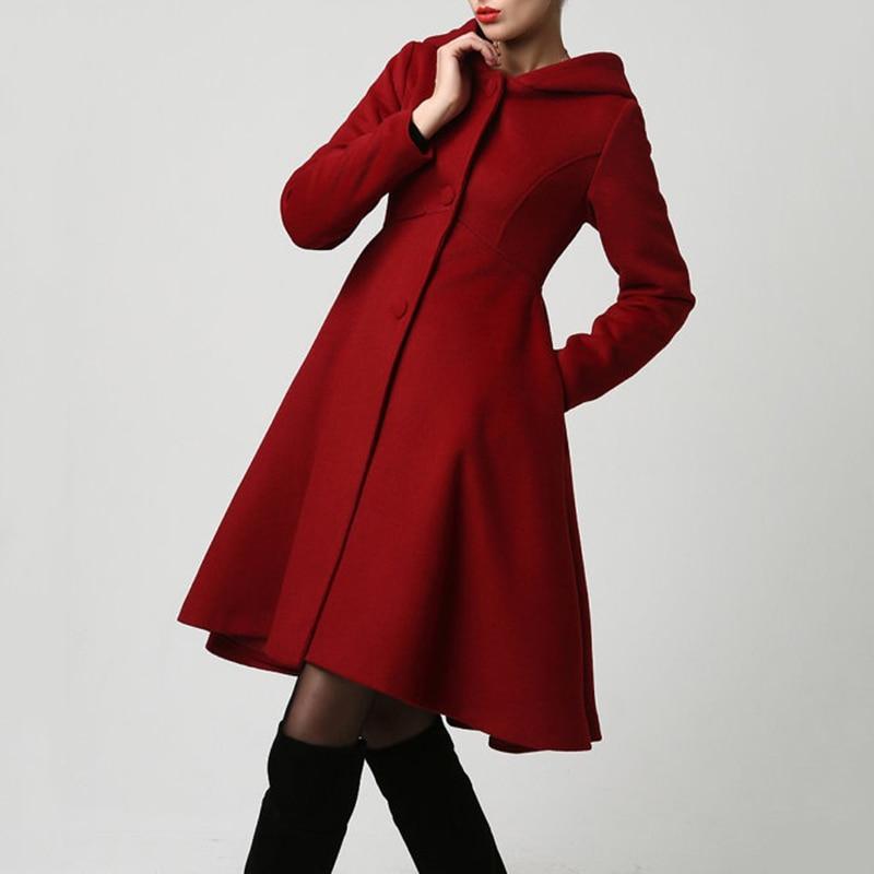 Plus Size Overcoat   Coat   Long Jacket Windbreaker Outerwear Dress Pockets Fashion