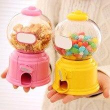 Mini máquina de doces fofa criativa, dispensador de brinquedo bolhas de doces, banco de moedas, brinquedo infantil, armazém, presente de aniversário