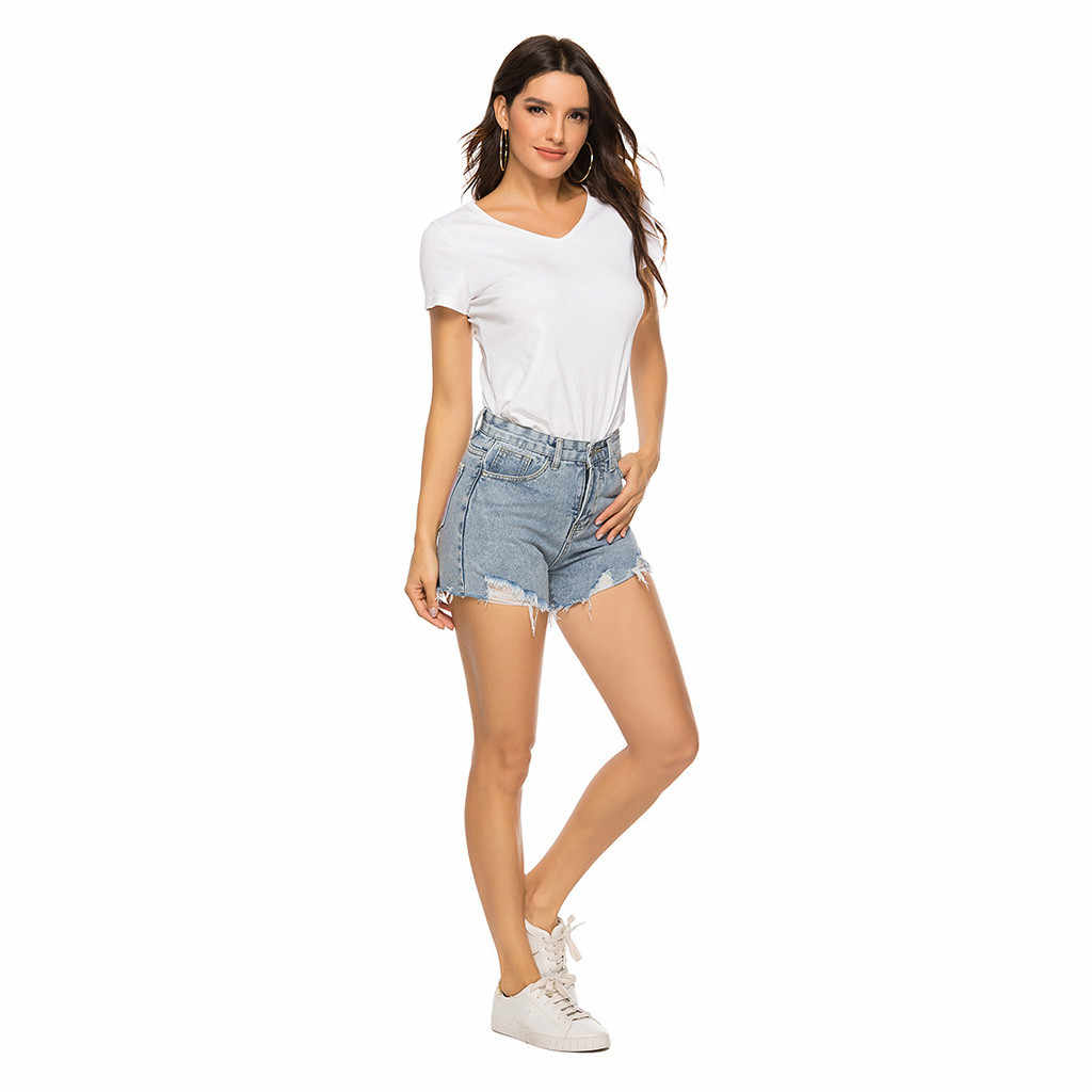 Womens Fashion Shorts Summer High Waisted Denim Shorts Jeans Women Short New Femme Push Up Skinny Slim Denim Shorts ##5