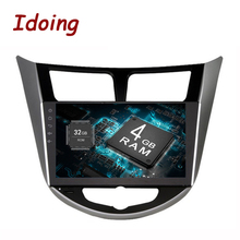 Idoing 2Din 8 Core 4G + г 32 г 9 «Android8.0For hyundai/Verna/I25/Solaris2010-2017 Автомобильный мультимедийный gps плеер быстрая загрузка Зеркало Ссылка wi fi