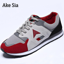 Ake Sia HOT Men Spring Autumn Fashion Casual Breathable Jogging Sneakers Male Hombre Flat Sapatos Zapatos Flat Board Shoes F090