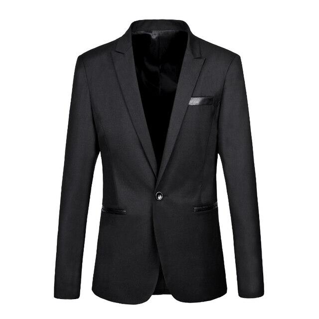2016 Autumn Formal Suit Jacket Slim Fit Tuxedo Brand Fashion Bridegroom Men's Business Dress Blazers high quality suits homme