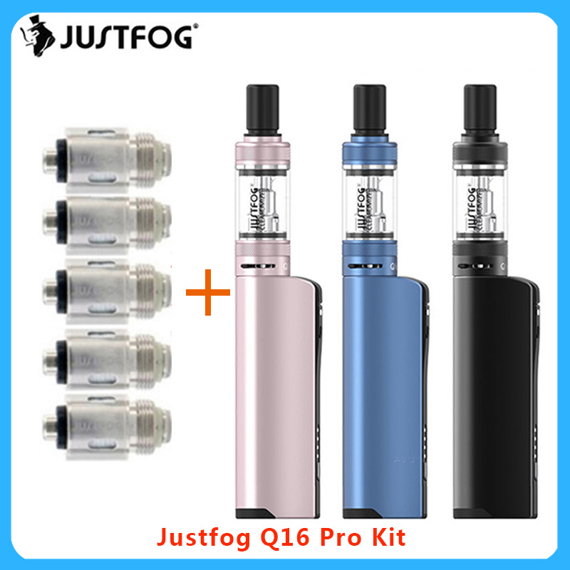 Newest JustFog Q16 Pro Vape Kit 900mAh Built-in Battery &1.9ml Clearomizer Electronic Cigarette Vape Starter Kit Vs P16/q16 Vape