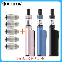 Newest JustFog Q16 Pro Vape Kit 900mAh built in battery &1.9ml clearomizer Electronic cigarette Vape starter Kit vs p16/q16 vape