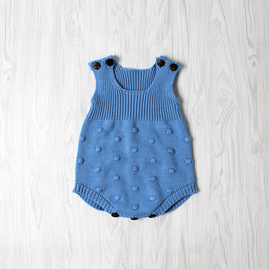 944f28f8c1ee Online Shop Soft Crochet Romper Spring Baby Knitted Romper Sleeveless Cotton  Plaid Overall Infant Onesie Playsuit D0142