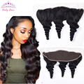 Peruvian Virgin Hair Loose Wave Frontal Ear to Ear Lace Frontal Closure Pre Plucked Lace Frontal Human Hair 13*4 with Baby Hair