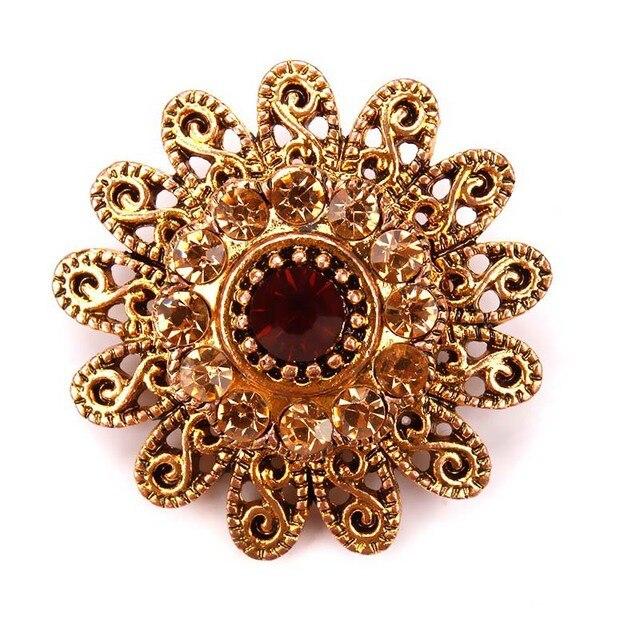 baiduquandu Brand Antique Gold Color Plated Assorted Designs Crystal Rhinestones