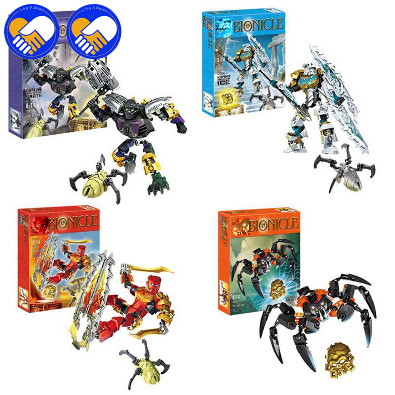 A TOY A DREAM New Bionicle Mask of Light XSZ 708 SeriesChildren's Kopaka Monster Of ICE Bionicle Building Block Toys a toy a dream xsz 707 3 bionicle cali master of water xsz building block bricks toys monster figures sets baby toys