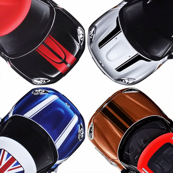 Car Hood Decal Head Stripe Stickers For MINI Cooper S One JCW R55 R56 R57 R60 R61 F54 F55 F56 F57 F60 Countryman Car Accessories