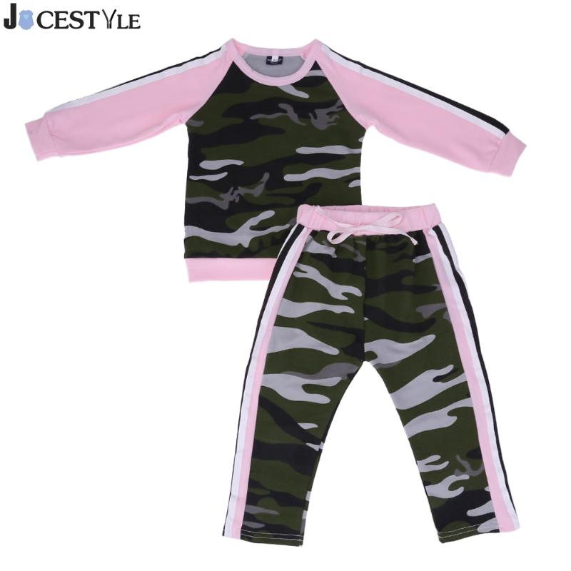 2pcs Baby Clothing Set Toddler Infant Camouflage Baby Girl Clothes T-shirt Tops+Pants Outfits Set Girl Clothing Set Gir Costume newborn toddler girls summer t shirt skirt clothing set kids baby girl denim tops shirt tutu skirts party 3pcs outfits set