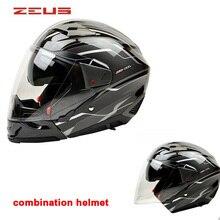 New ZEUS double lens full face motorcycle helmet  mutil-function modular helmet  mens racing half helmet  DOT approved M~XXL