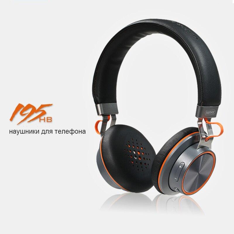 Remax 195HB casque sans fil Bluetooth écouteur mains libres casque pour oreille tête téléphone iPhone Xiaomi Huawei écouteurs écouteur