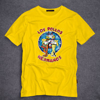 Men S Fashion Breaking Bad Shirt 2016 LOS POLLOS Hermanos T Shirt Chicken Brothers Short Sleeve