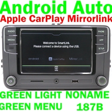 Button-Light Radio RCD330 Carplay RCD510 Octavia Android Auto Skoda Green for Fabia Superb