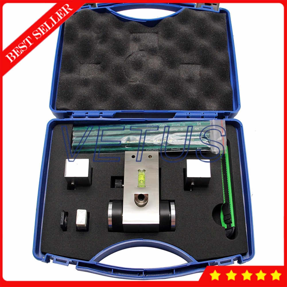 HT-6510P Pencil Hardness Tester With Load Weight 1000g 750g 500g Portable Pencil Hardness Gauge Testing Tools