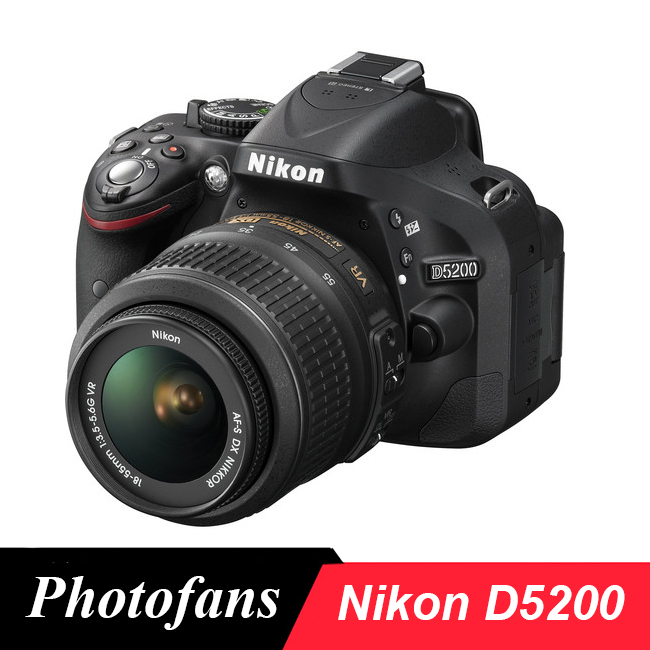 Nikon D5200 DSLR-kamera -24,1 MP -Video -Vari-Angle LCD (helt ny)