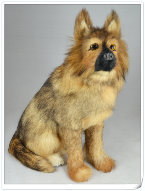 large 38x18x30cm simulation squatting wolfhund dog Handmade model toy,polyethylene& furs toy,home decoration Xmas gift w4049 simulation animal large 28x26cm brown fox model lifelike squatting fox decoration gift t479