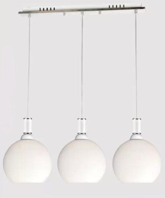 Modern simple restaurant pendant lights personality bar cafe restaurant red /white pendant lamps 3 heads glass lighting lamps ZA