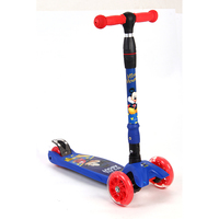 Adjustable Height Flashing Light Children Kick Scooter Kids Outdoor Playing Bodybuilding Scooter Toy For 2 12years