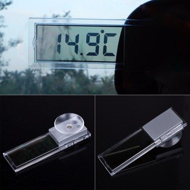 Osculum Loại MÀN HÌNH LCD Xe gắn trên Xe Kỹ Thuật Số Cửa Sổ Nhiệt Kế Trên Cửa Sổ C Fahrenheit Kỹ Thuật Số Xe Đồng Hồ Điện Tử